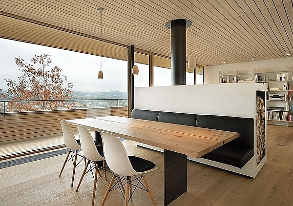 Gorgeous living area of Modern Swiss Home