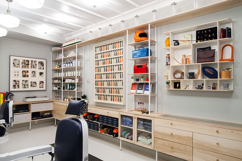Harry's, a Soho barbershop and men's retail store designed by Fort Standard
