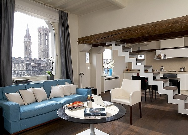Historic Watchtower in Florence transformed into modern home