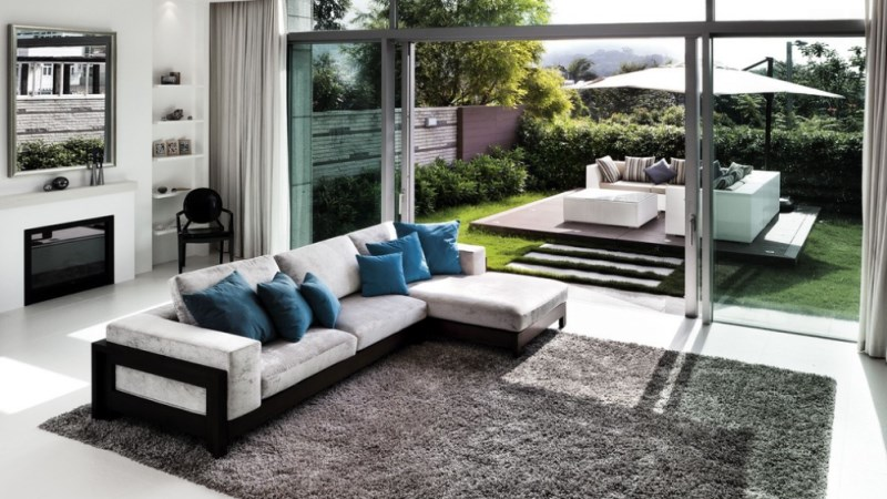 Hong Kong living room with a lush view