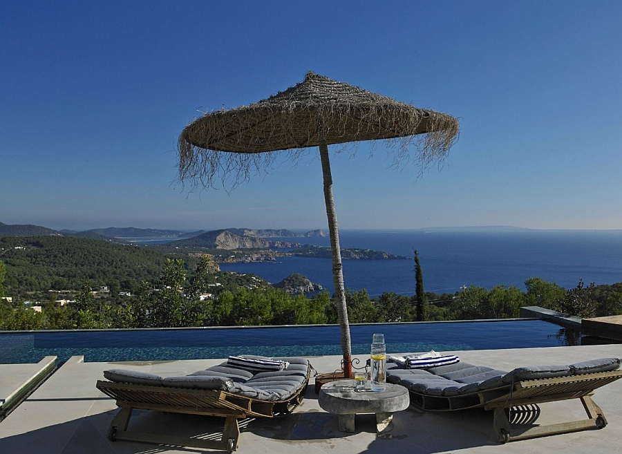 Infinity pool of the gorgeous retreat overlooking the Mediterranean Sea