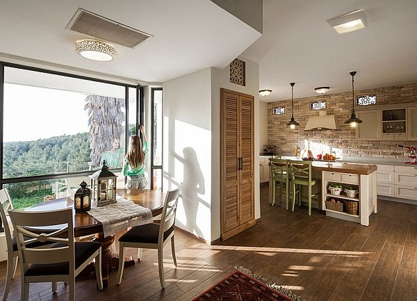 Kitchen and dining room of the renovated Israeli Home