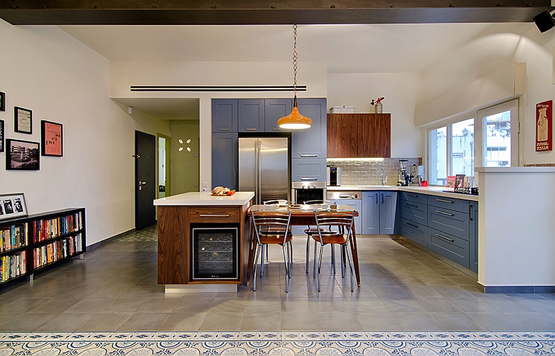 Kitchen area of the beautiful 87 square meter Tel Aviv apartment