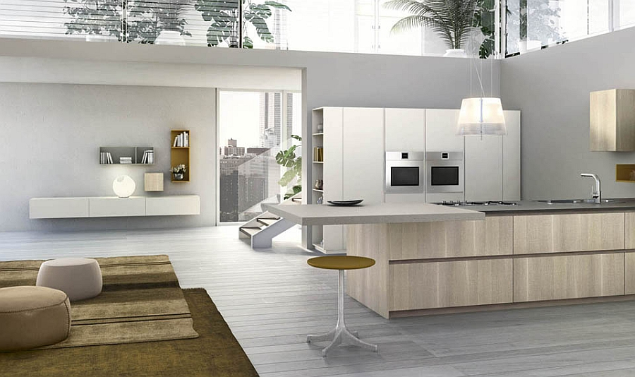 Modular Italian Kitchen With Streamlined Design And Adaptable Style