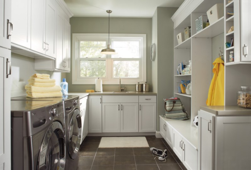 Laundry room cabinetry by Pro Stone