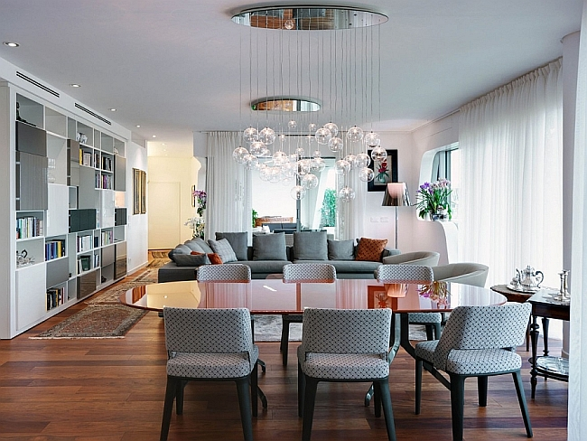 Exquisite Milan Apartment Blends Elegant Living Areas With Ample Privacy