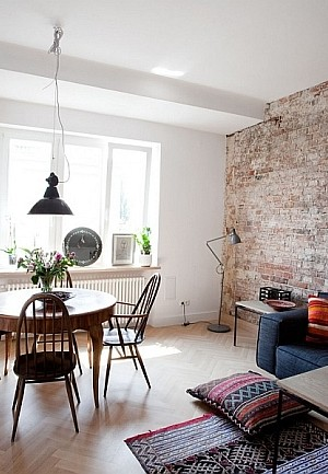 Living Room of Small Warsaw Apartment