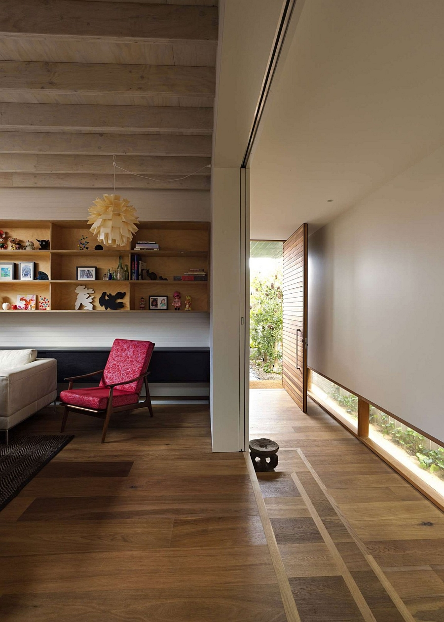 Living area of the Sydney Residence sits on an elevated platform