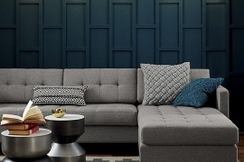 Living room in many shades of gray