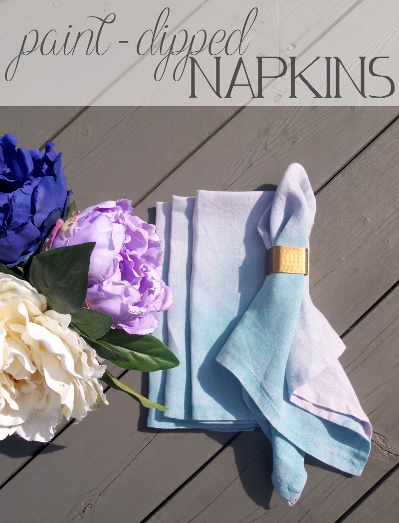 Lovely napkins with a painted look make for perfect gifts