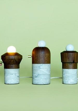 Marble and Wood Lights