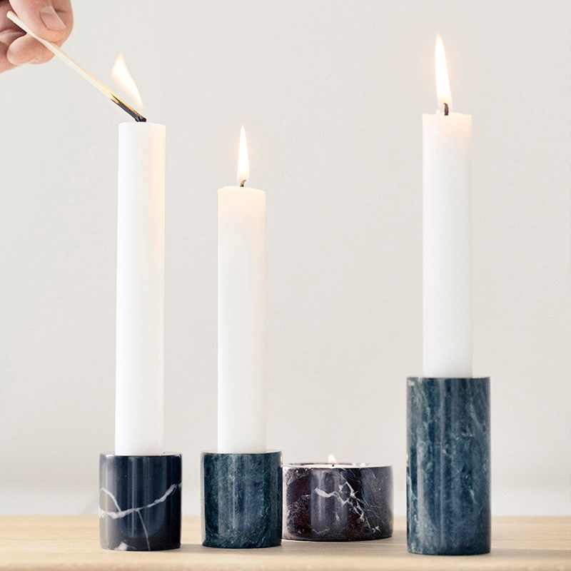 Marble candleholders from Ferm Living