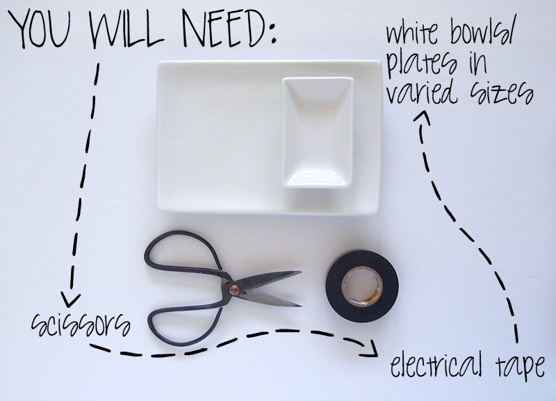 Materials required to shape the trendy geometric Jewelry Tray DIY: Black and White Geometric Jewelry Trays