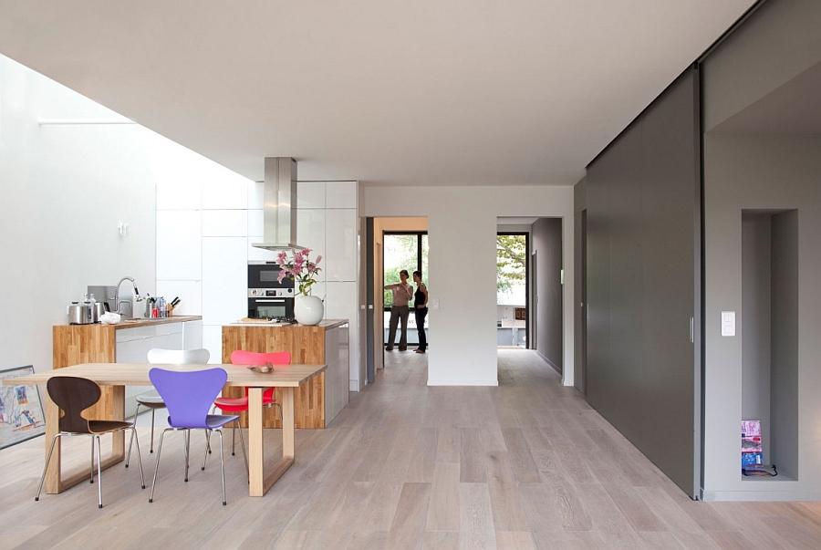 Minimal decor and stylish kitchen inside the sustainable house