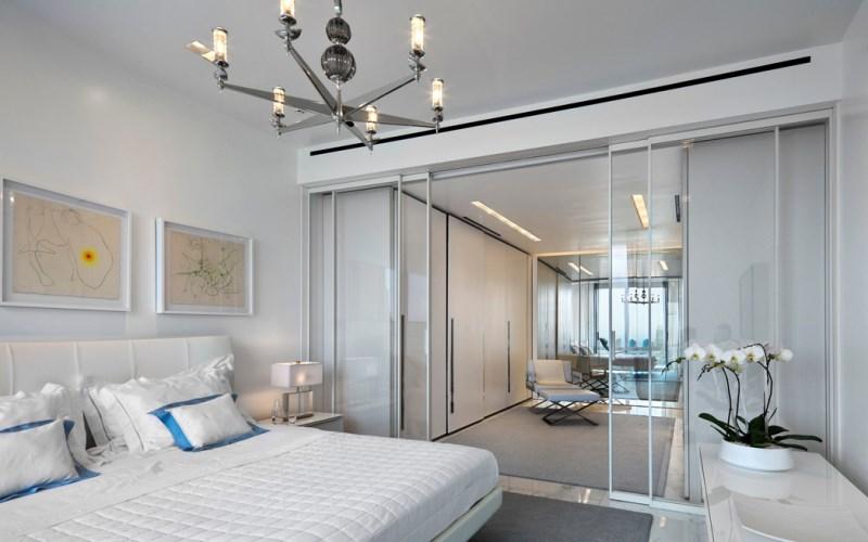 Modern artwork in a Manhattan bedroom