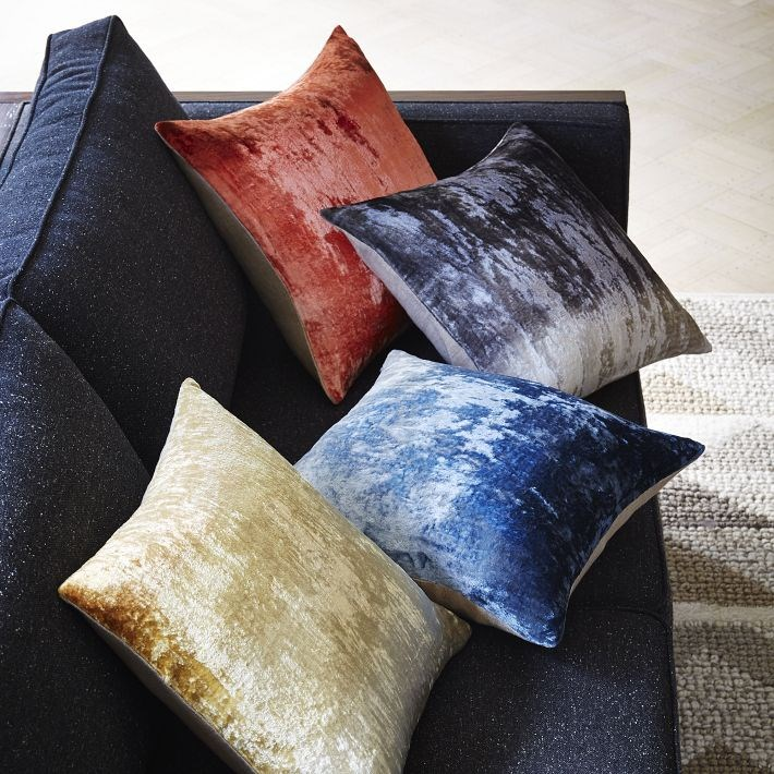 Ombre velvet pillow covers