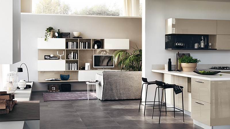 Modular Living Area, Kitchen Compositions Versatile Trendy Designs