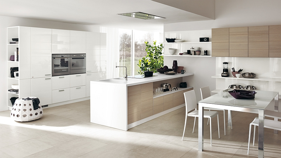 Open kitchen combines the perfect functionality of working areas with relaxed ambiance Modular Living Area And Kitchen Compositions Offer Versatile Design Solutions