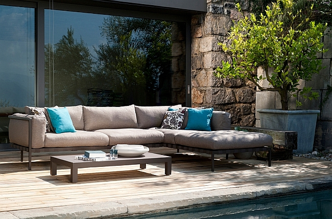 Exclusive Outdoor Sofa, Armchair Collection, Contemporary Style