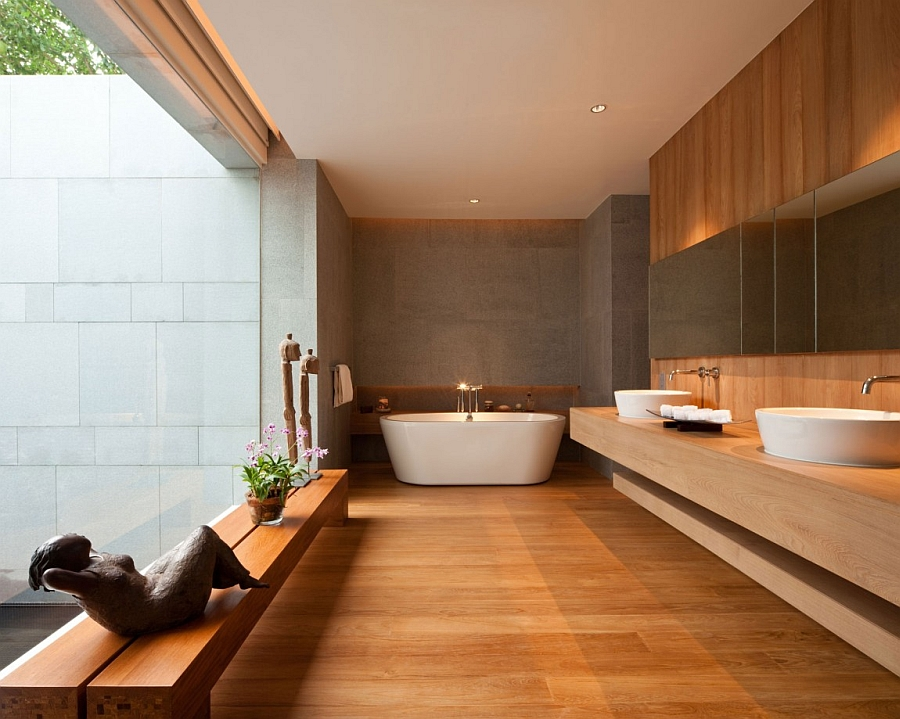 Ravishing contemporary bathroom with spa-like luxury