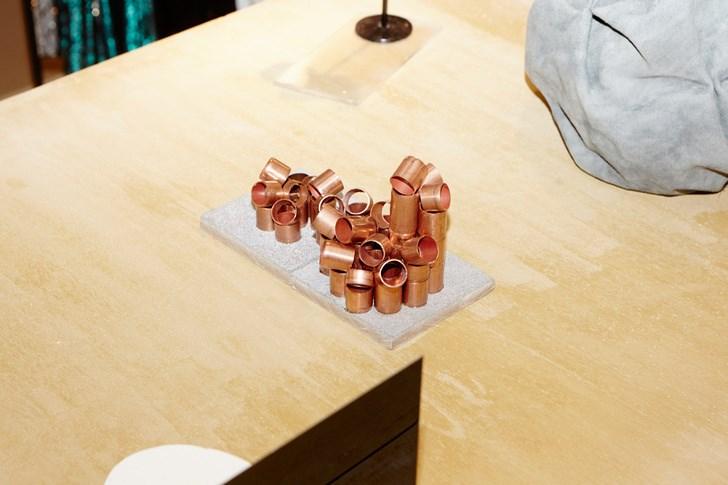 Sculptural details at the Philip Lim pop-up shop by Studio Toogood