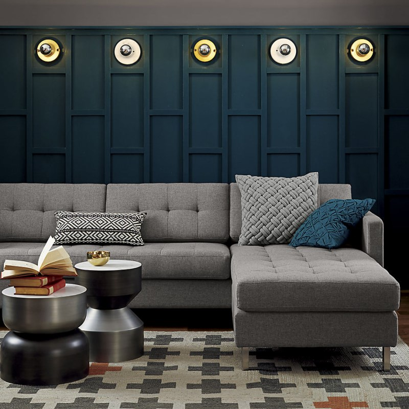 Shades of gray in a chic room designed by CB2