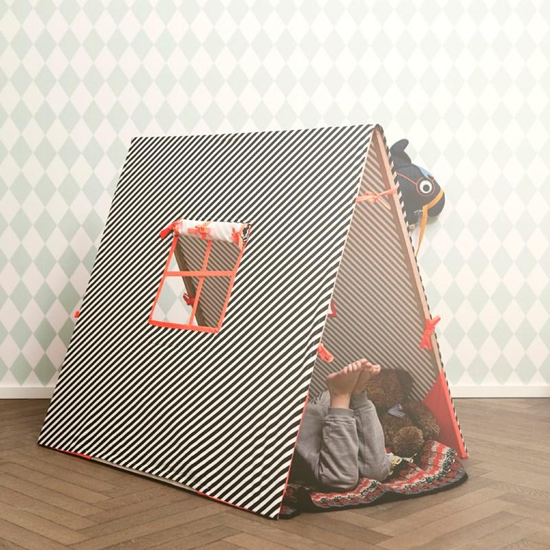 Striped tent makes a festive statement