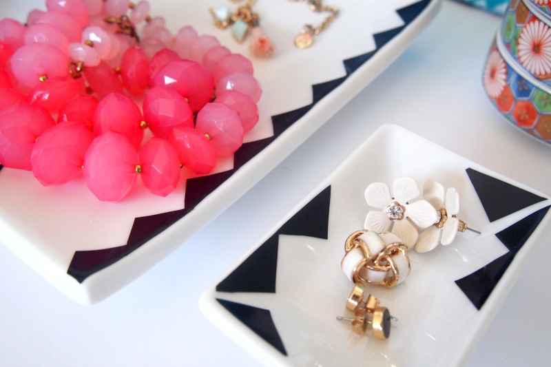 Stylish DIY Jewelry Trays also work wells as art pieces