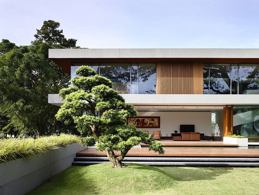 View In Gallery Stylish Contemporary Home In Singapore With Nature Inspired  Design