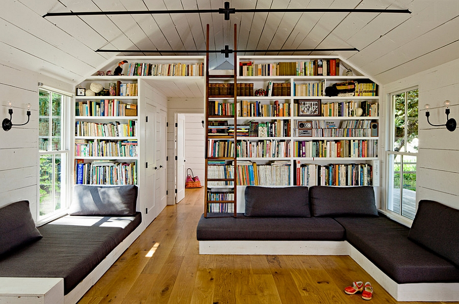 Wall Of Bookshelves decorating with books, trendy ideas, creative displays, inspirations