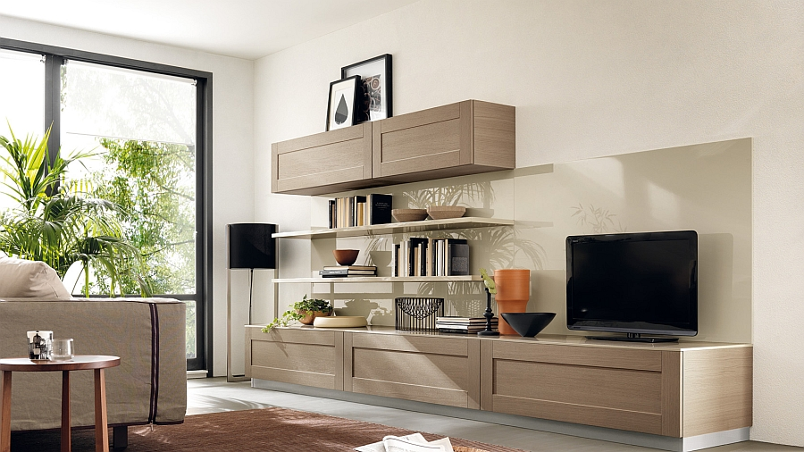 Tamarind oak adds inviting warmth to the living room
