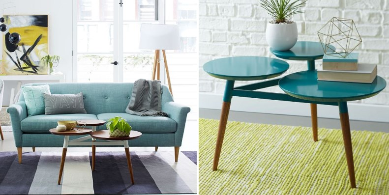 Teal and gold selections from West Elm 3 Striking Color Combinations For Fall