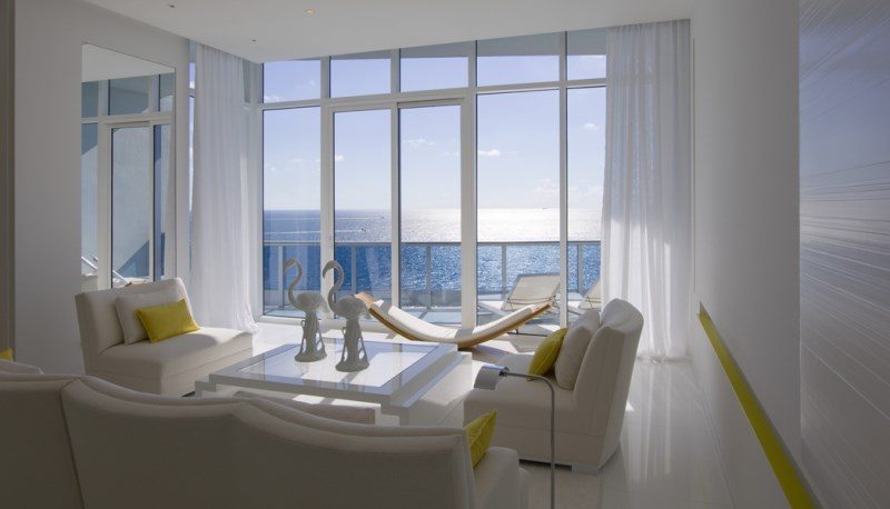 View In Gallery The Living Room Of A Miami Guest House Designed By Jennifer Post