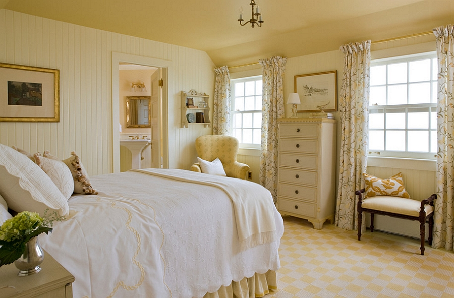 Feminine bedroom ideas decor and design inspirations Master bedroom with yellow walls