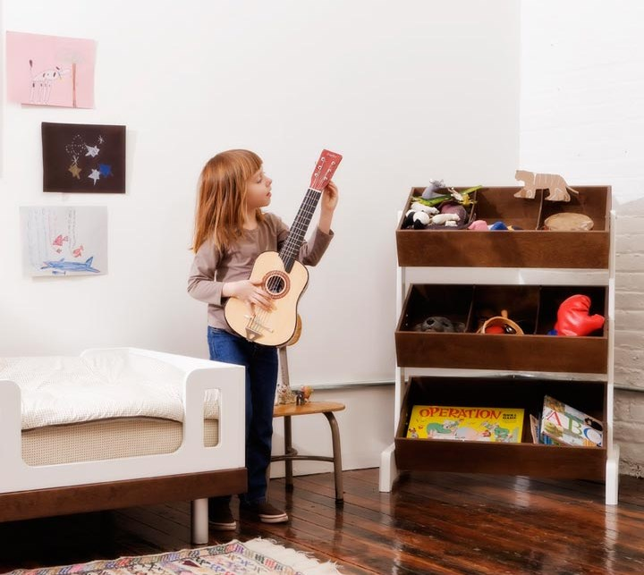 Toy storage system by Oeuf Unique Kids Room Design And Decor Ideas