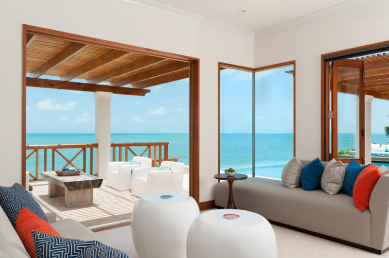 Turks & Caicos sitting room with ample cushions