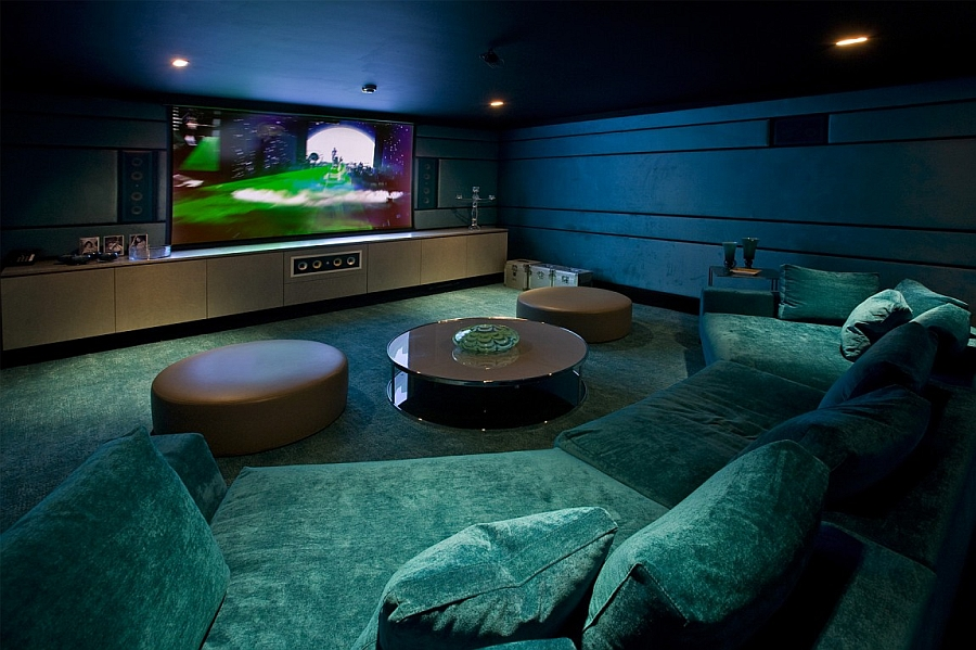 Unique home media room idea