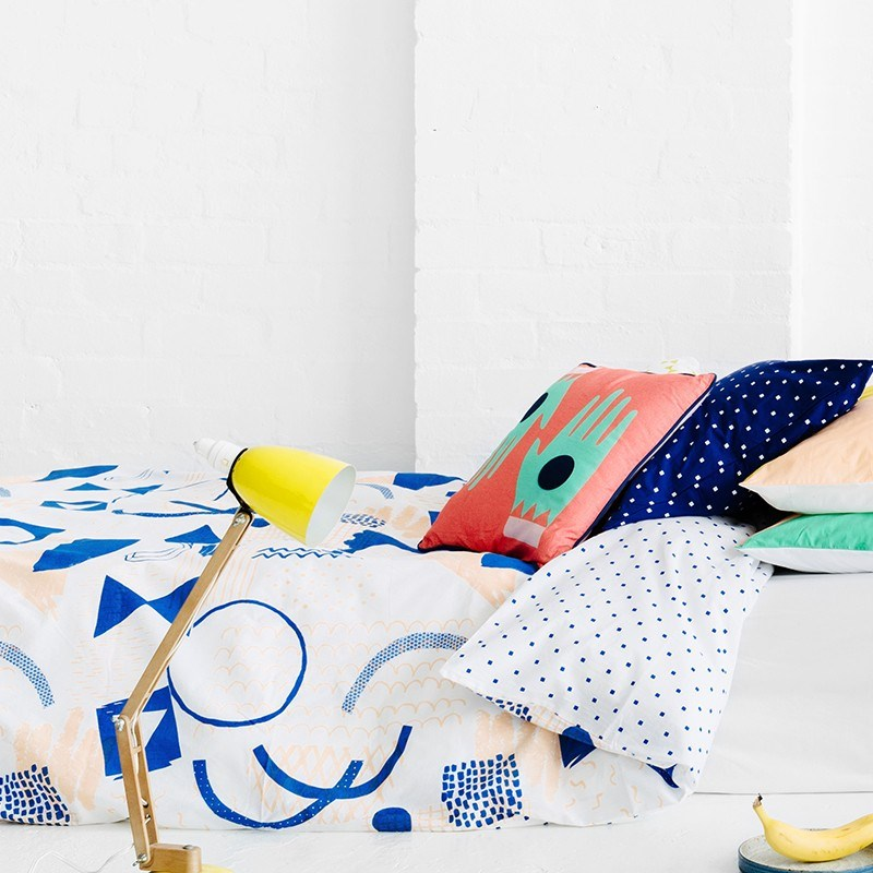 Vibrant Sketchbook bedding from Arro Home