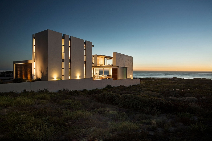 Warm lighting adds to the visual appeal of the Pearl Bay Residence