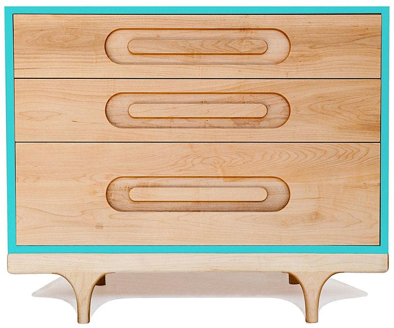 Wooden clean-lined dresser