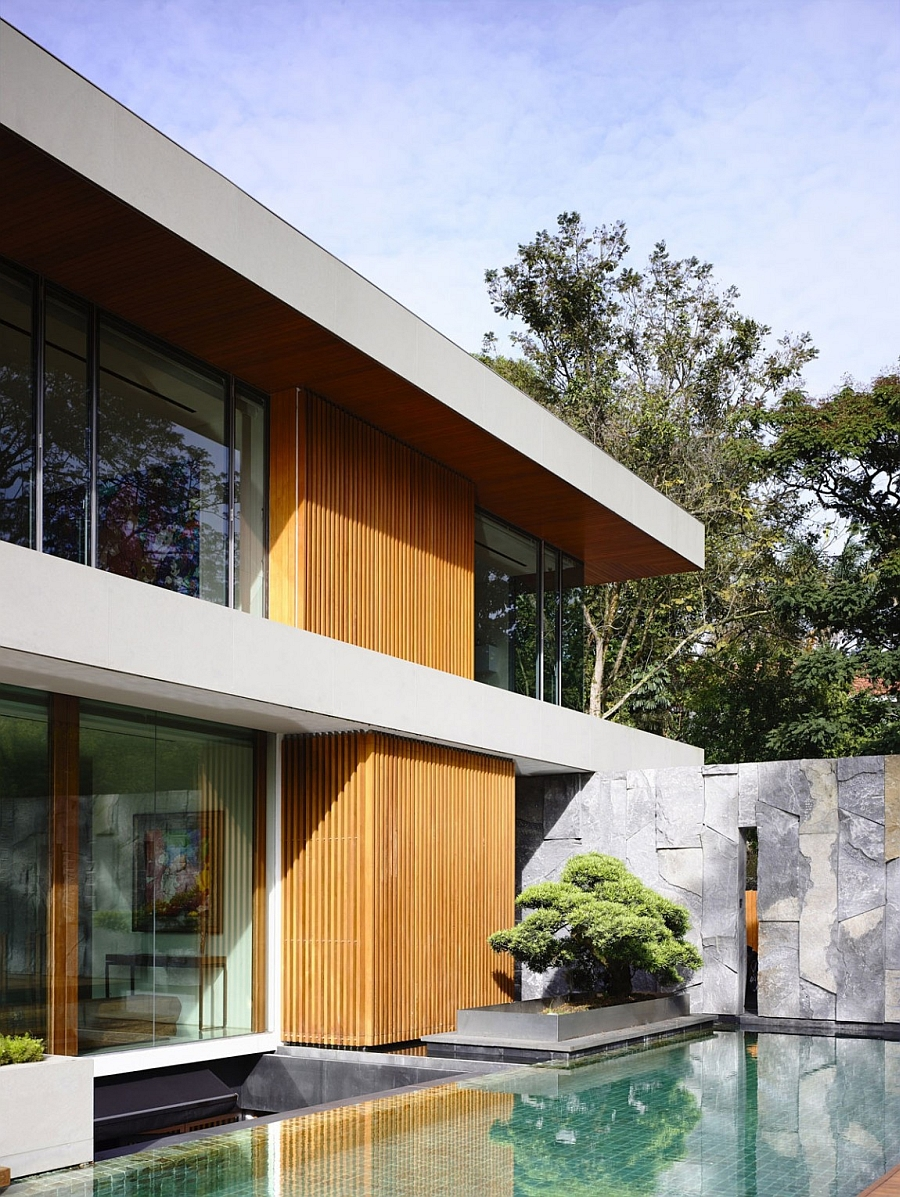 Zen-like nooks next to the pool offer a tranquil retreat