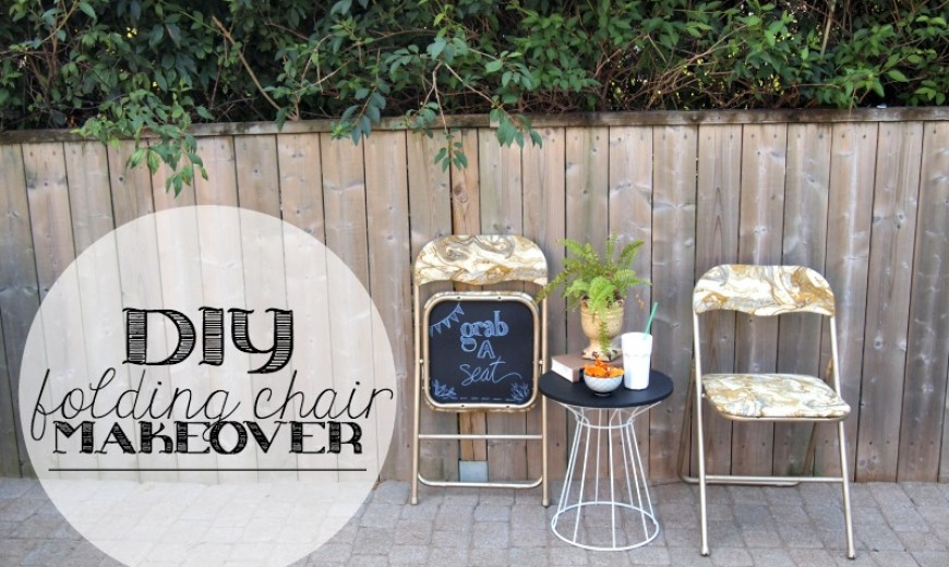 DIY: Folding Chair Makeover with Chalkboard Bottoms