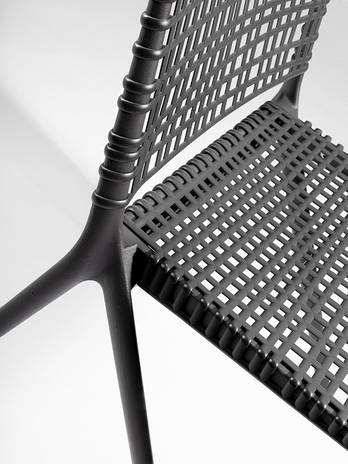A closer look at the intricate pattern of the Branch chair