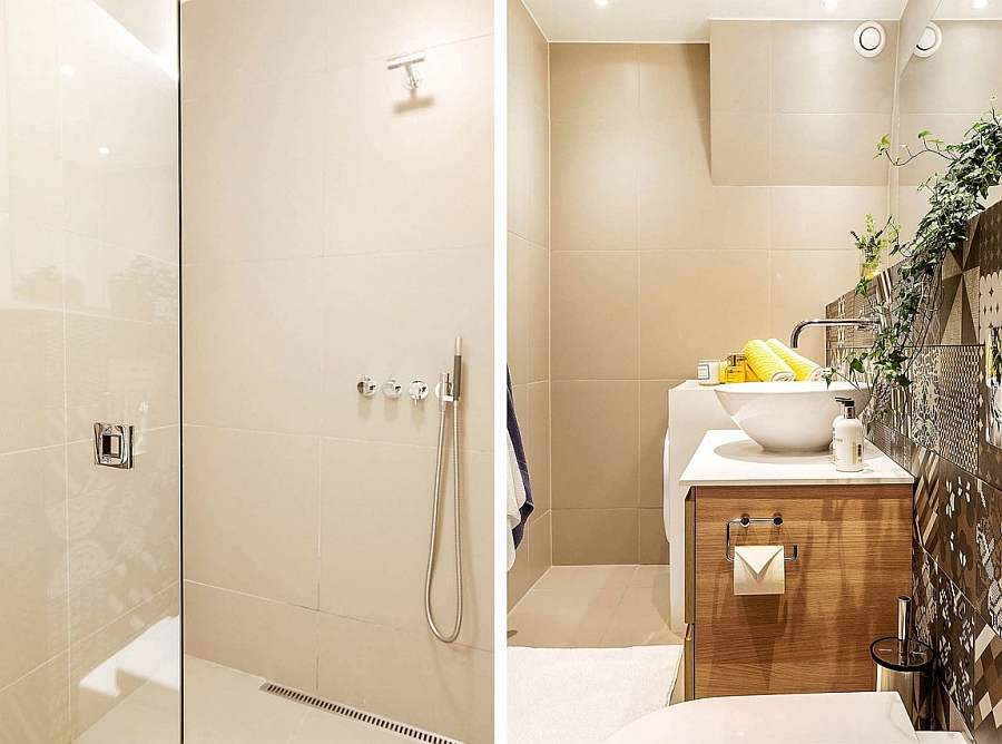 A touch of greenery and color for the bathroom