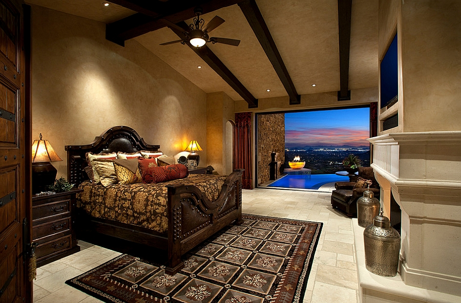 Amazing master bedroom offers mesmerizing views and relaxing ambiance [By: Weaver Interior Designs]
