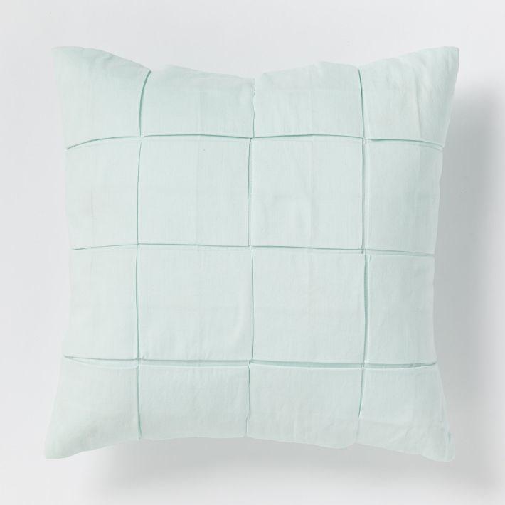 Aqua grid pillow from West Elm