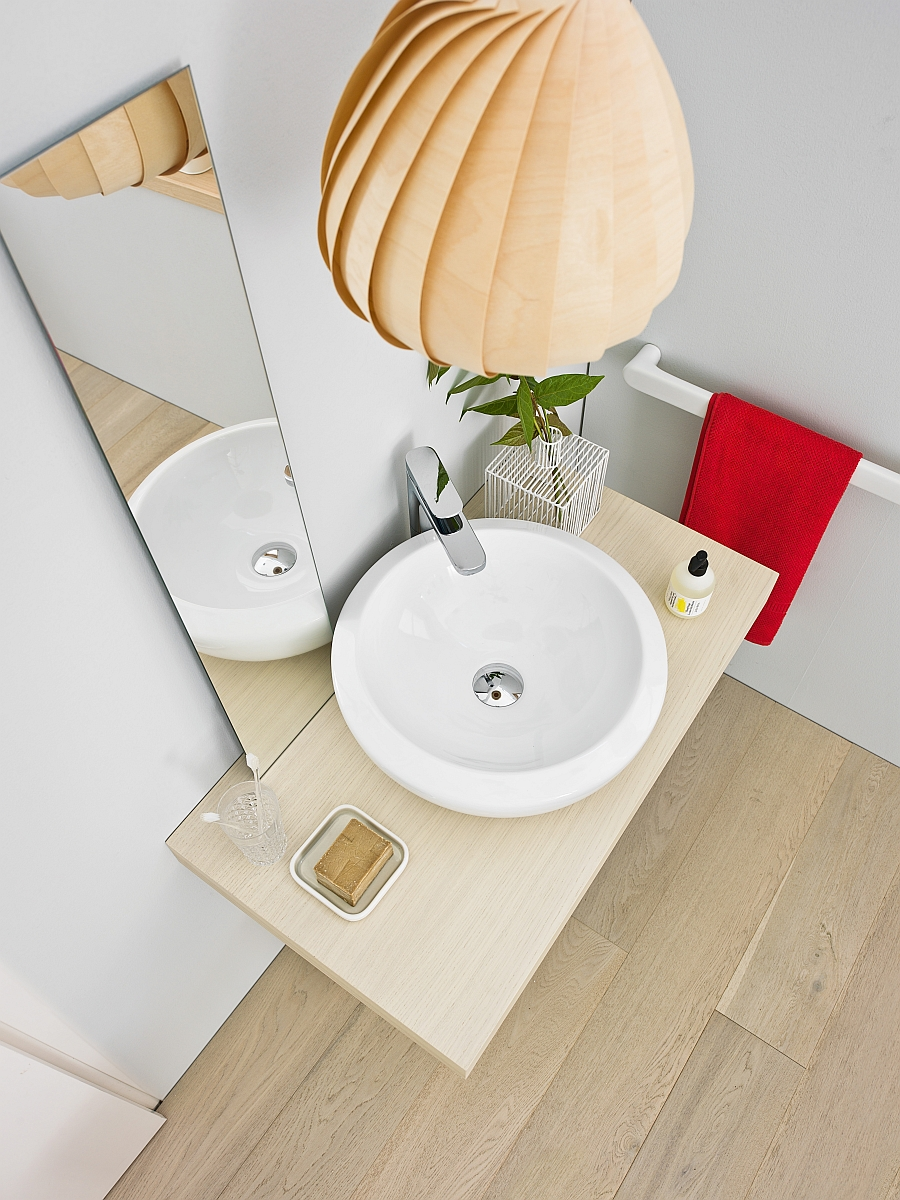 Artceram Blend washbasin fits into the tiniest of spaces Small Bathroom Design Solutions With Trendy, Smart Sophistication