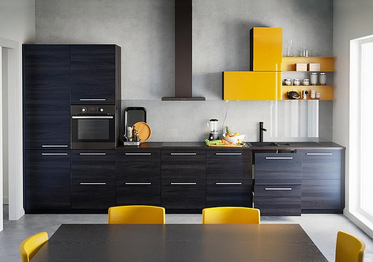 Basic kitchen templates are combined with Ikea accessories
