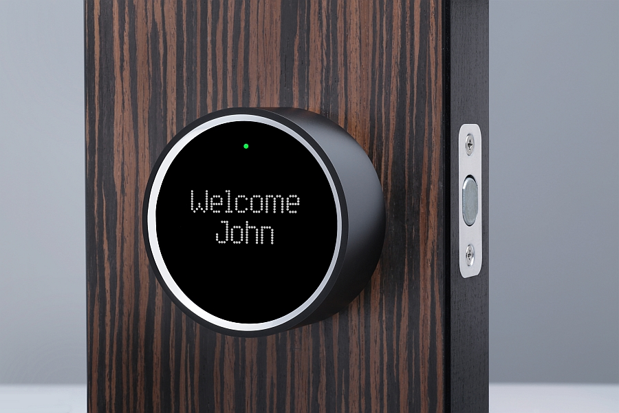 Beautiful LED display of the lovely smart lock 5 Smart Locks That Hold The Key To Tech Savvy Future Homes