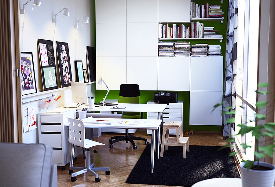 Beautiful home office composition from the Ikea Catalog